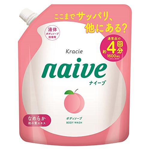 ナイーブ ボディソープ 桃の葉エキス配合 1600ml [詰め替え用]