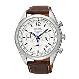 [セイコー]SEIKO クロノグラフ 100m防水 本革ベルト SSB095P1 メンズ 腕時計 [並行輸入品]