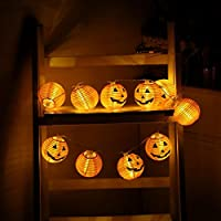 ストリングスライトMangjiu 超かわいい LED かぼちゃ 北欧風 アウトドア 屋内 照明 雰囲気作り 飾り プレゼント (白)