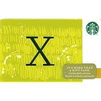 スターバックス STARBUCKS スタバ 2014ホリデーカード99『アルファベット X』海外版