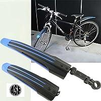 自転車用マッドガード泥よけ フロントとリアセット青 as20075