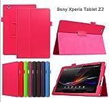 windykids Xperia Z2 Tablet ケース au SOT21/docomo SO-05F/SONY SGP511/ SONY SGP512 ローズレッド(case+film+pen3点set