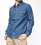 ヴィンテージイーエル[VINTAGE E.L.] ウォバッシュストライプデニム 長袖ワークシャツ (02-77218) 72/ライトインディゴ 38(M)サイズ