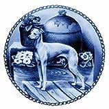 デンマーク製 ドッグ・プレート (犬の絵皿) 直輸入! Italian Greyhound / イタリアン・グレイハウンド