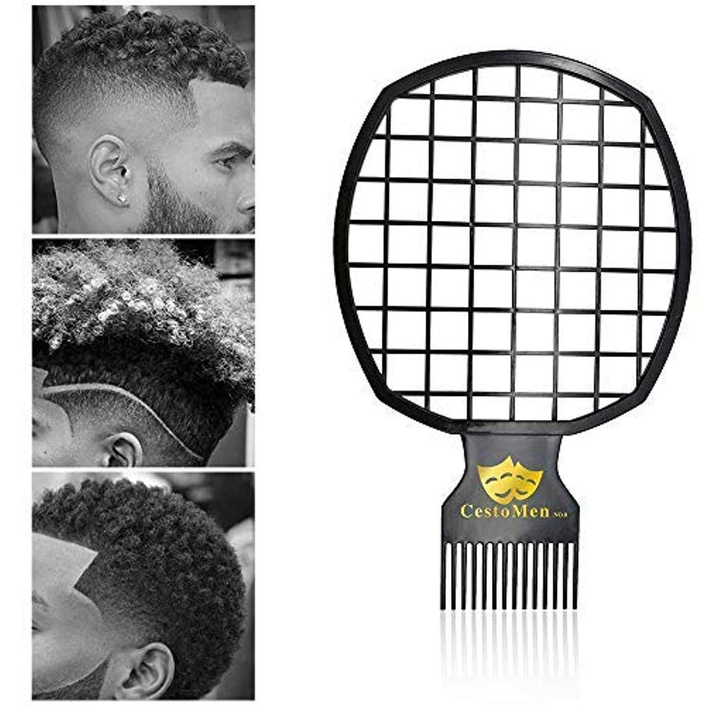 コンプライアンス初期の英語の授業がありますAfro Twist Comb Portable Two-In-One Hair Comb for Natural Twists Curls Coils Dreads Hair Styling Tool for Black...