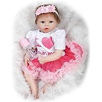NPKDOLLシミュレーションRebornベビー人形ソフトSilicone 22インチ55 cmビニールLifelike Vivid Toy Boy Girl Bigハートドレス