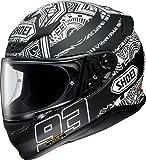 ショウエイ(SHOEI) バイクヘルメット フルフェイス Z-7 MARQUEZ DIGI ANT (マルケス デジ アント) TC-5(BLACK/WHITE) L(59cm)