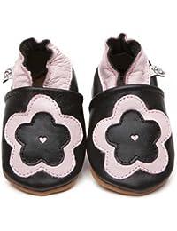Soft Leather Baby Shoes Big Flower [ソフトレザーベビーシューズビッグフラワー] 3-4 years (16.5 cm)