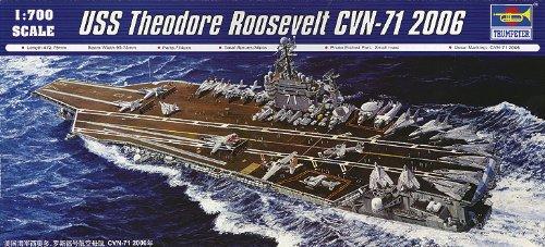 【並行輸入品】Trumpeter 1/700 USS Theodore Roosevelt CVN71 Aircraft Carrier 2006 Model Kit =トランペット奏者1/700米国