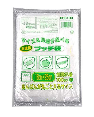 お徳用プッチ袋 小 透明(100枚入)