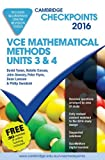 Cover of Cambridge Checkpoints VCE Mathematical Methods Units 3 and 4 2016 and Quiz Me More