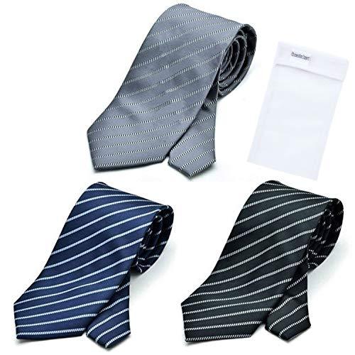 グリニッジ ポロ クラブ 洗えるネクタイ 3本セット 洗濯ネット1個付き 撥...