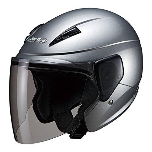 マルシン(MARUSHIN) バイクヘルメット セミジェット M-520 シルバー フリーサイズ(57-60cm未満)