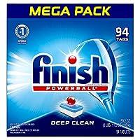 仕上げ - オールインワン1-94カラット - 食洗機用洗剤 - Powerball - 食洗機用タブレット - 食器用タブ - 新鮮な香り (パッケージは異なる場合があります)