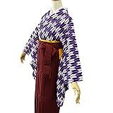 卒業式袴セット 女性レディース二尺袖着物無地袴セット 4サイズ5色/S(87cm) エンジ