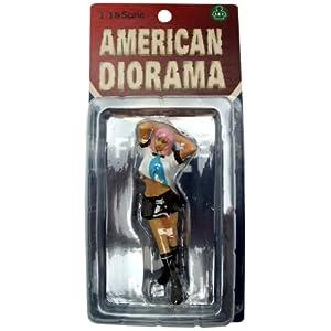 1/18 American Diorama Car Model シリーズ Naomi ナオミ 白Ver 女子高生 制服 フィギュア 模型