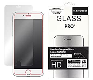 GLASS PRO+ Premium Tempered Glass Screen Protection バックボタン 機能付き for iPhone 6s iPhone 6 強化ガラス 液晶 保護 フィルム シート プロテクター ラウンドエッジ加工 …