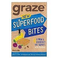 [Graze ] スーパーバオバブ4×30グラムとブルーベリー&レモンフラップジャックを放牧 - Graze Blueberry & Lemon Flapjack with Super Baobab 4 x 30g [並行輸入品]