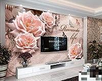 Wuyyii 壁紙ヨーロッパのレトロな花の装飾テレビの背景壁紙家の装飾リビングルームの寝室の3D壁紙A-150X120Cm