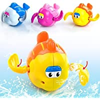 Bath Toys Wind Up Toys Baby Bathtub Toys a Swimming Pool Toys Water Toys for Toddlers Kids Fish Pack of 1 [並行輸入品]