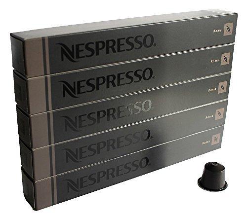 NESPRESSO ネスプレッソ カプセル コーヒー ローマ 1本10カプセル×5本セット [並行輸入品]