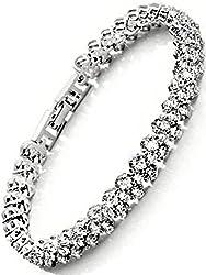 [ラ・ベル・フルール] La Belle Fleur CZダイヤモンド テニスブレスレット