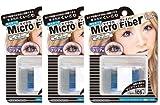 ビーエヌ マイクロファイバー クリア色 105本(52回分) MCF-1 3個セット