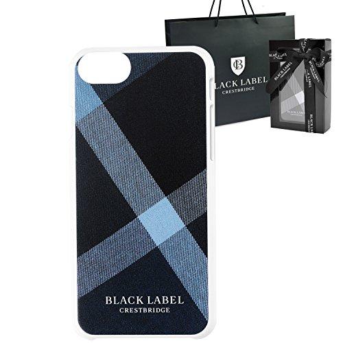 [セット品] ギフトラッピング済 BLACK LABEL CRESTBRIDGE ブラックレーベル クレストブリッジ 正規品 クレストブリッジチェック iPhone 6/6s/7 ケース スマホケース 手帳型 ショップバッグ付 (ブルー)
