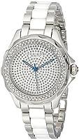 アクリボス Akribos XXIV Women's AK534SS Swiss Quartz Diamond Ceramic Link Bracelet Watch 女性 レディース 腕時計 【並行輸入品】
