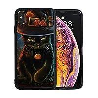 iPhone Xs Max ケース 黒猫 TPU 傷防止 レンズ保護 軽量 耐衝撃 ワイヤレス充電対応