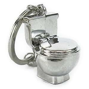 [Neustadt] 美しい 輝き メタリックな 洋式トイレ型 キーホルダー 蓋が開きます