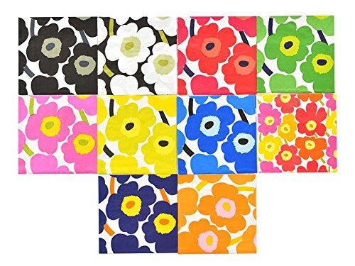 RoomClip商品情報 - marimekko(マリメッコ) ペーパーナプキン デコパージュ UNIKKO ウニッコ 10枚セット アソート 33×33cm ペーパーナプキン 北欧