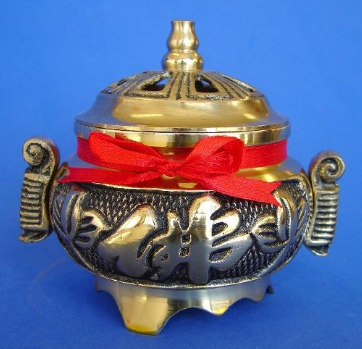 削除する昼寝反抗Brass Incense Burner for Cone Incenses
