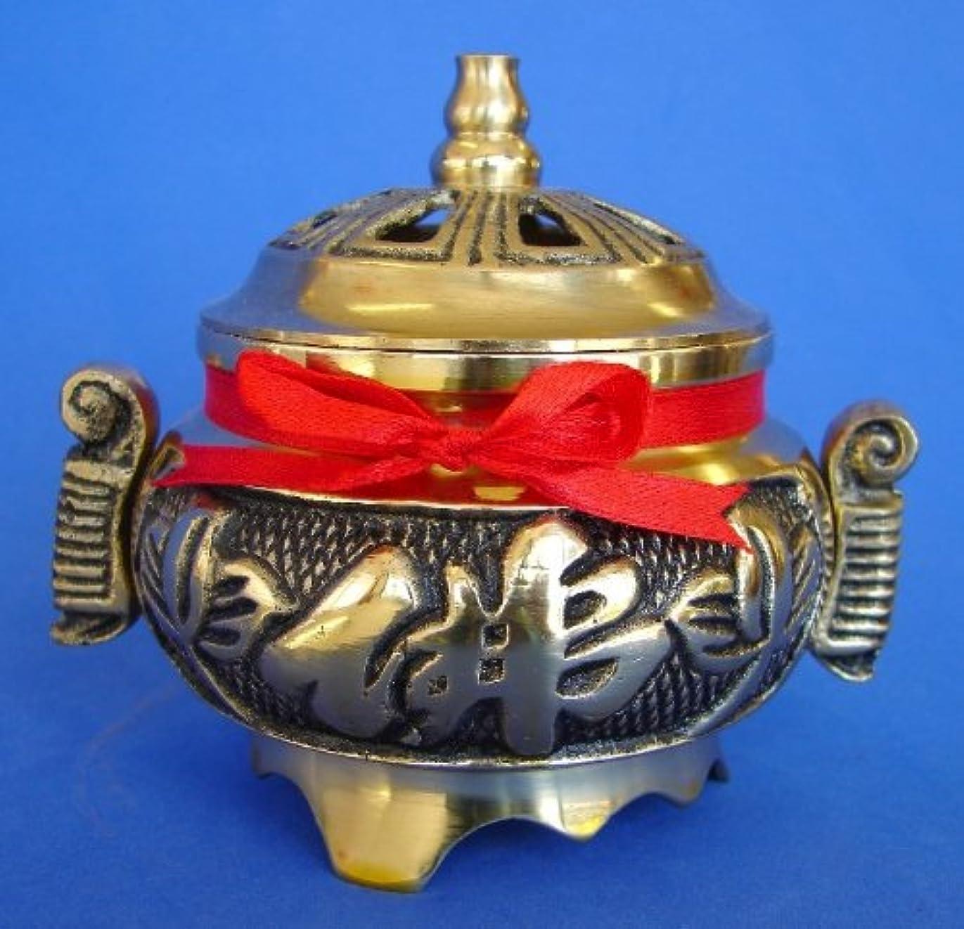 噂キッチン支払うBrass Incense Burner for Cone Incenses