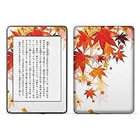 igsticker kindle paperwhite 第4世代 専用スキンシール キンドル ペーパーホワイト タブレット 電子書籍 裏表2枚セット カバー 保護 フィルム ステッカー 015654 和柄 紅葉 和風