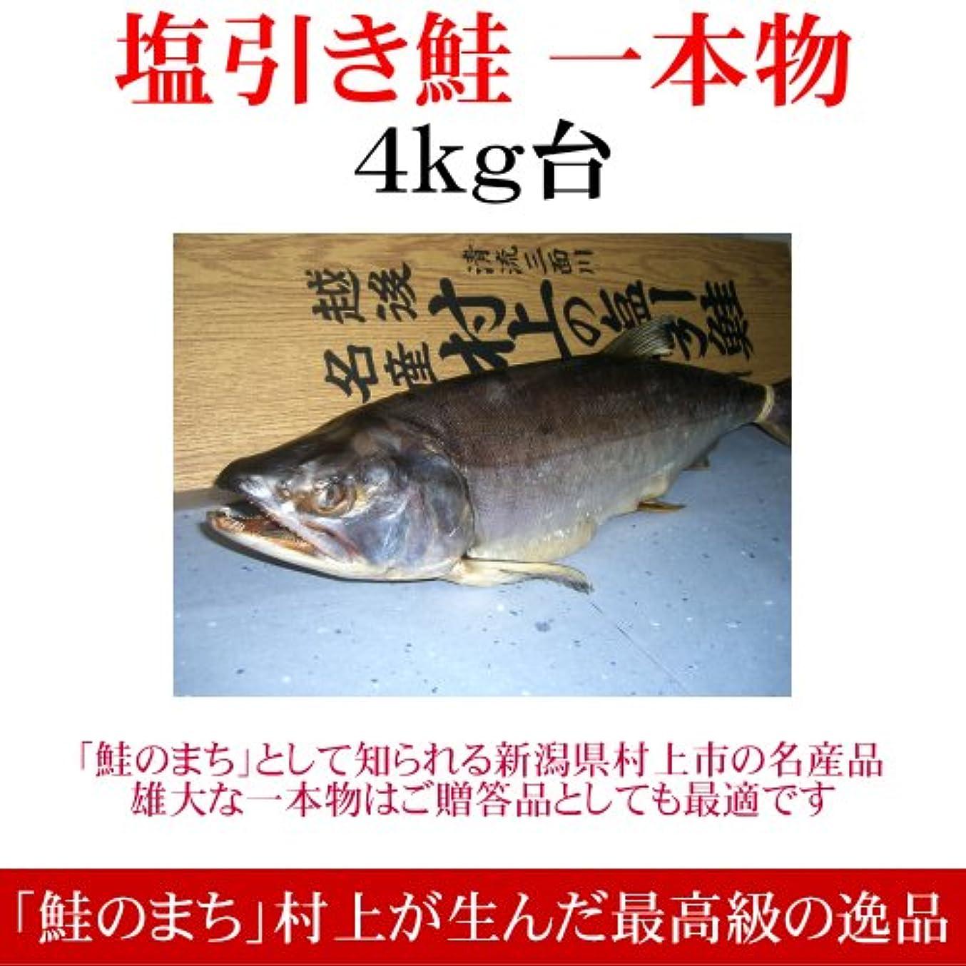凍結退院注入する[引越し祝い]塩引き鮭(一本物)4kg台 越後村上の名産品です[全国送料無料?新潟の特産品]