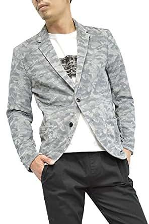 カモフラパイルテーラードジャケット (L, グレー)