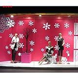 B-PING ウォールステッカー クリスマス ホワイト 雪の結晶 インテリアステッカー パーティ ー 飾り 装飾 デコレーション ガラス シール