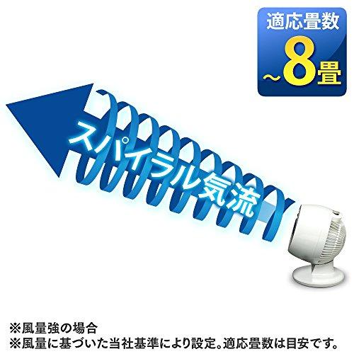 アイリスオーヤマ サーキュレーター 静音 首振り PCF-M15-A ~8畳 ブルー