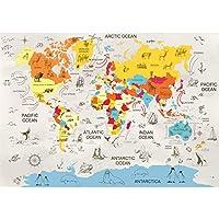CLEVERBOOKS LTD.世界地図 8月の現実