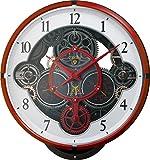 リズム時計 GUNDAM ( ガンダム ) キャラクター 電波 からくり 掛け時計 ジオン シャーズカスタム レッド ( シャー カラー) 4MN534MG01