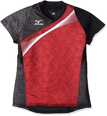 (ミズノ)MIZUNO 卓球ウエア ゲームシャツ [ユニセックス] 82JA6501 62 レッド XL