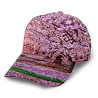 桜の花 通気性抜群 日除け UVカット 紫外線対策スポーツ帽子男女兼用 速乾軽薄日よけ野球帽登山 釣り ゴルフ 運転 アウトドアなどにメッシュ帽