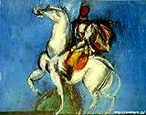 デュフィ 「ル アー白い騎手」 原画同縮尺近似(10号) dufy-07-03