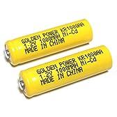 単3形ニッケルカドミウム電池(NiCd) KR1000AA (2個パック)
