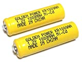 単3形ニッケルカドミウム電池(NiCd) (2個パック) goldenpower ゴールデンパワー KR1000AA