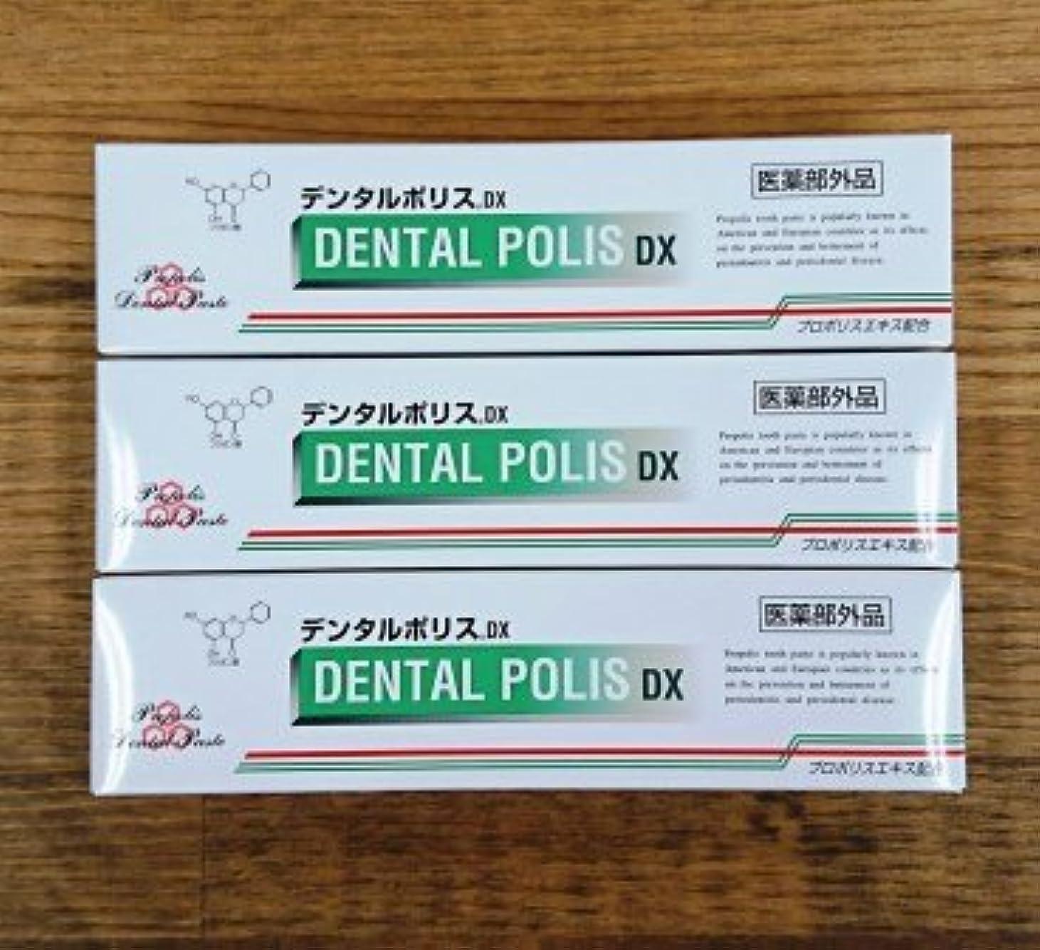 ポータル民族主義クスクスデンタルポリスDX80g×3本セット 医薬部外品  歯みがき