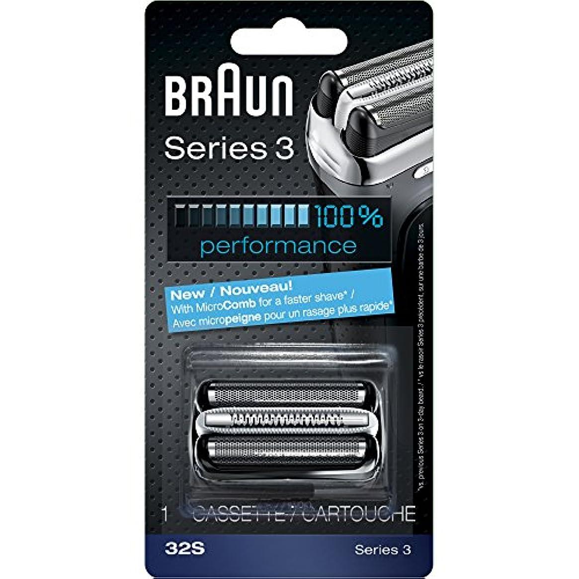禁止ヨーロッパ相手ブラウン シェーバー シリーズ3用 網刃?内刃一体型カセット F/C32S と同一品 並行輸入品
