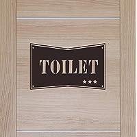 アメリカンプレート風でかっこいいトイレ サインアメリカン プレート風 男前インテリア トイレ サイン ウォールステッカー カリフォルニア おしゃれ (ブラック)