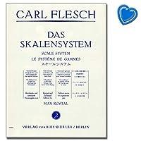Carl meat - 階段のシステム - バイオリンのためのe Moll tonarten etuedenのおかげでスケールエクササイズ - 色付きのノートとハート型のクリップ
